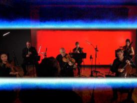 Stravinsky Septet against artworks