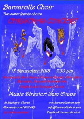 Christmas Concert Flyer, Christine Mabileau