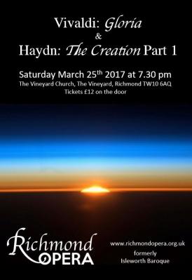 Haydn Creation (Part 1) and Vivaldi Gloria concert