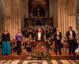 Worcester Festival Choral Society performing at Worcester Cathedral