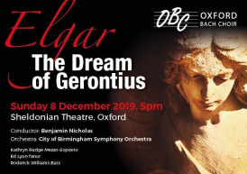 Poster for Oxford Bach Choir's Dream of Gerontius concert