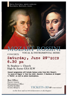 Concert 'Music by Mozart & Rossini'