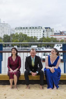 Pomegranate Trio (L to R: Fenella Barton, violin; Andrew West, piano; Rebecca Hepplewhite, cello)
