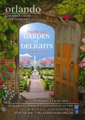Orlando Chamber Choir - Garden of Delights flyer