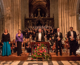 Worcester Festival Choral Society perform at Worcester Cathedral