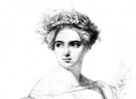 Fanny Mendelssohn, sketched by her future husband Wilhelm Hensel