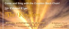 "Croydon Bach Choir Come and Sing Elgar's ""The Kingdom"""