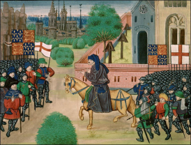 John Ball at Mile End from Jean Froissart, Chronicles (c. 1470)
