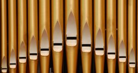 Picture of organ pipes