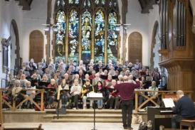 Mayfield Festival Choir in rehearsal