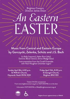 Music from Central and Eastern Europe by Gorczycki, Zelenka, Schütz and J.S. Bach.