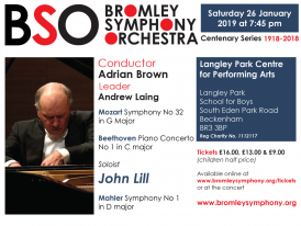 Bromley Symphony Orchestra - January Concert