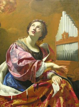 St Cecilia, by Simon Vouet, Blanton Museum of Art (Creative Commons)