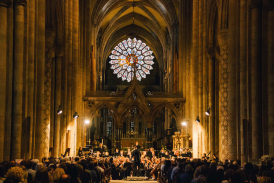 Durham University Orchestral Society in Durham Cathedral