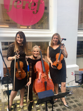Classical PopUps Strings team up with Royal Philharmonic Principal Trumpet for the first collaborative event with Airbnb - a Concert above a Pub.