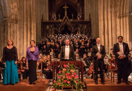 Worcester Festival Choral Society concerts are held in Worcester Cathedral