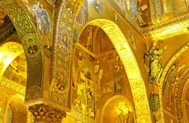 Photo: Interior of Palatine Chapel in the Royal Palace, Palermo, Sicily.