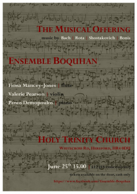 Ensemble Boquhan Holy Trinity Church Concert
