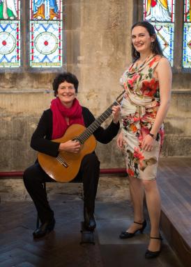 Sue Whittaker (Guitar) and Katie Gilbert (Soprano)