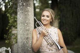 Matilda Lloyd with her trumpet