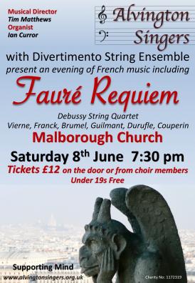Alvington Singers Malborough Concert Poster