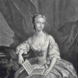 Mrs Clive from the picture at Strawberry Hill, Alexander van Haecken, c.1735,© Gerald Coke Handel Foundation