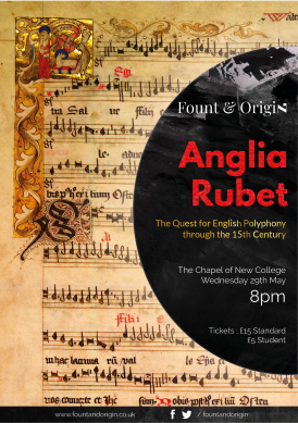 Anglia Rubet Fount and Origin poster
