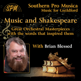 An evening with Brian Blessed and the music inspired by Shakespeare