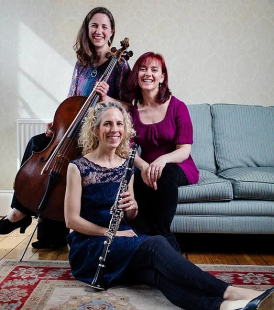 Trio Ecossaise (Jennifer Brown, clarinet; Harriet Davidson, cello; Claire Haslin, piano)