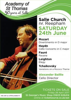 Alexander Baillie - concert poster