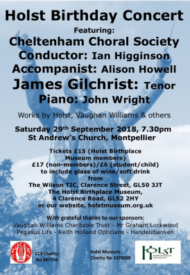 Holst Birthday Concert 2018