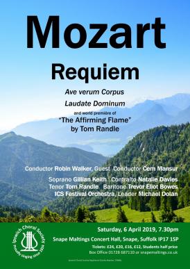 Mozart's Requiem concert poster