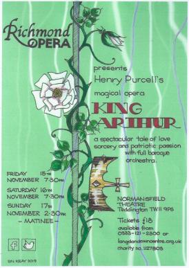 Green flier for King Arthur - crown on rose