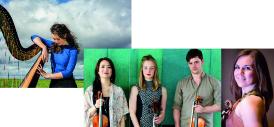 Esther Swift & The Brodick Quartet [L to R: Katrina Lee (violin II), Alice Allen (cello), Ben Norris (violin I), Rhoslyn Lawton (viola)]