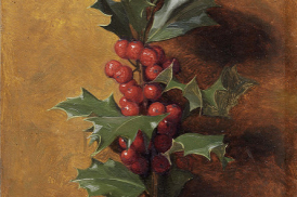 detail of The Four Seasons - Holly, James Hayllar, 1873