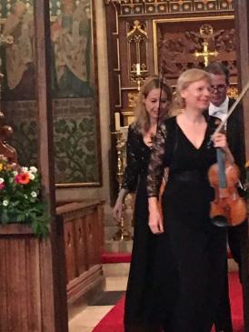 Sylvia Eisermann, violin, Julia Dräger, violin, Jon Booth, piano