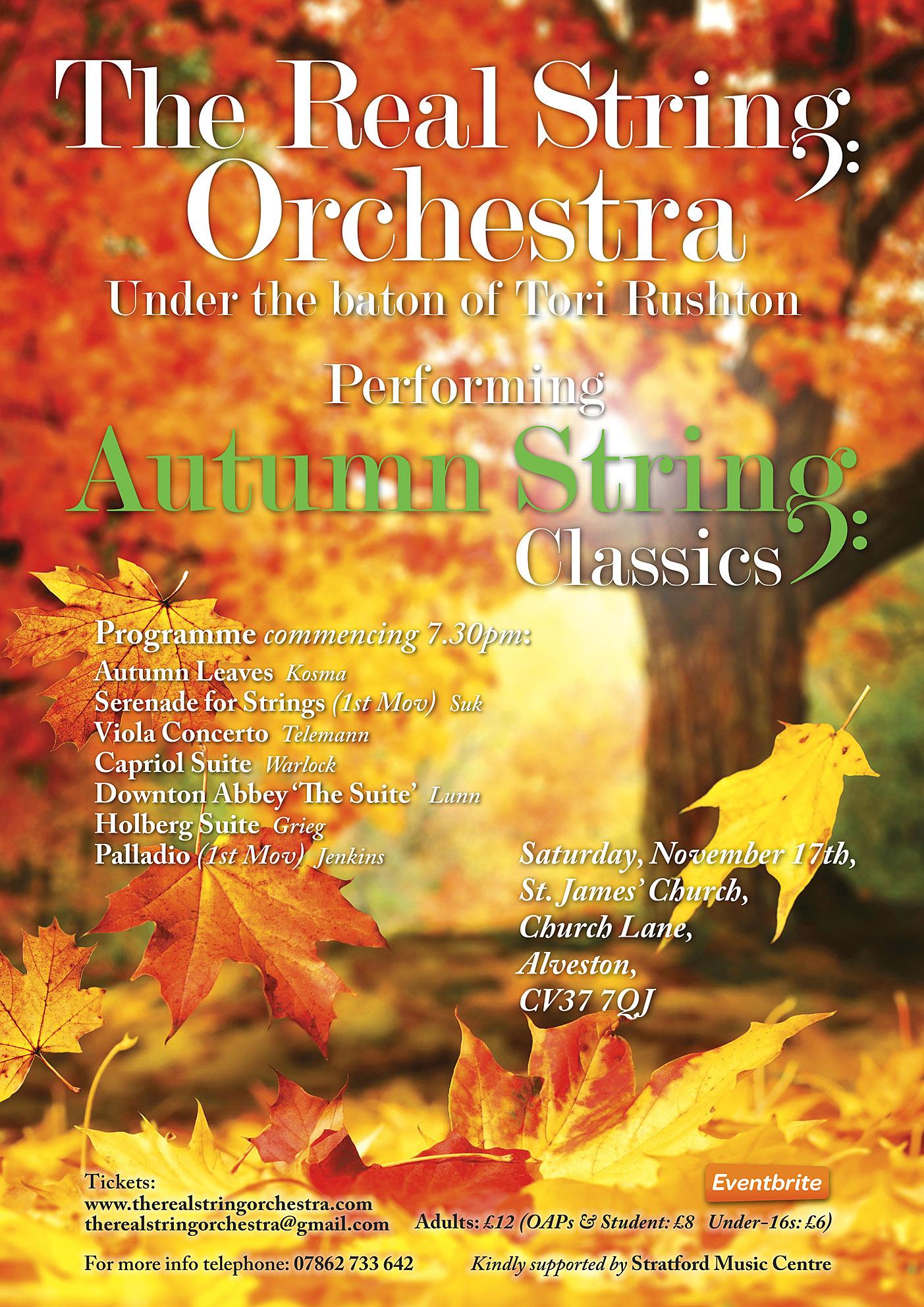 Autumn String Classics at St James' Church, Stratford Upon