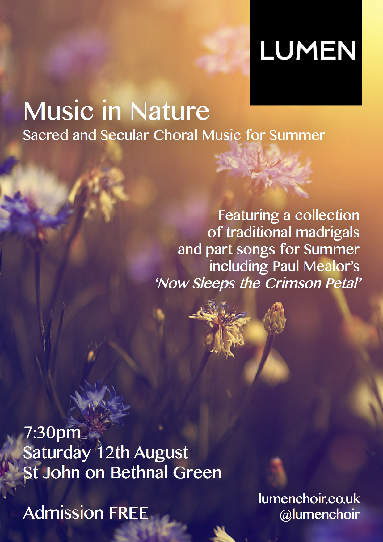 Music in Nature: Sacred and Secular Choral Music for Summer