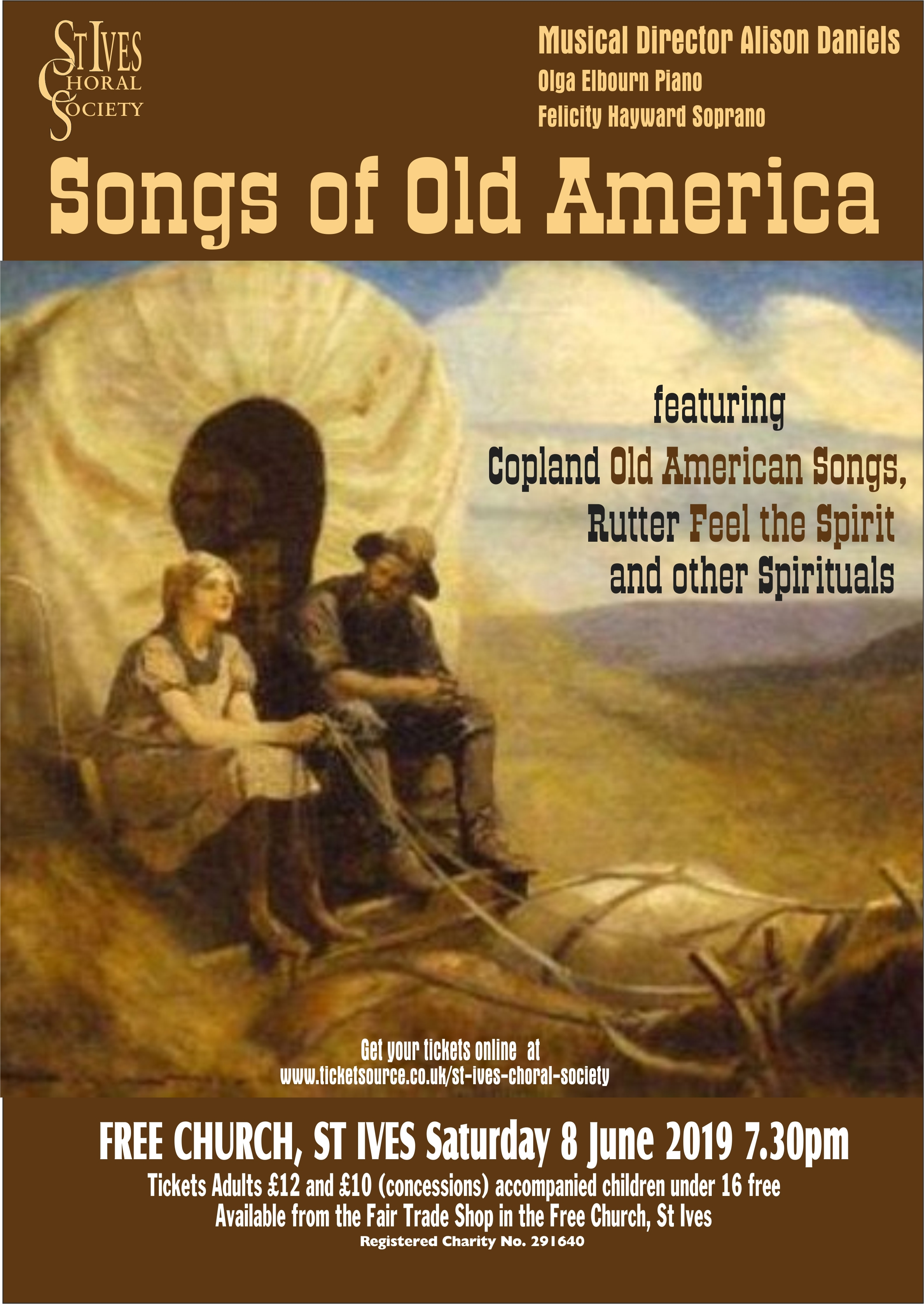 St Ives Choral Society: Songs of Old America at Free Church
