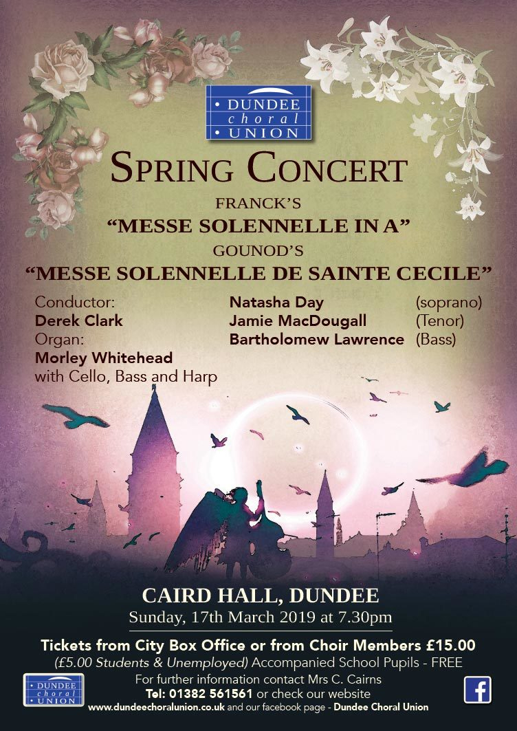Dundee Choral Union Spring Concert at Caird Hall, Dundee on